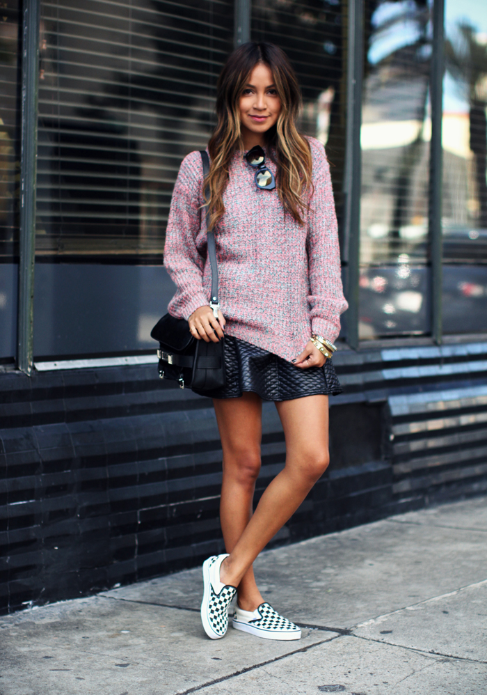 1-Le-Fashion-Blog-15-Ways-To-Wear-Checkered-Van-Slip-On-Sneakers-Blogger-Style-Knit-Skirt-Via-Sincerely-Jules