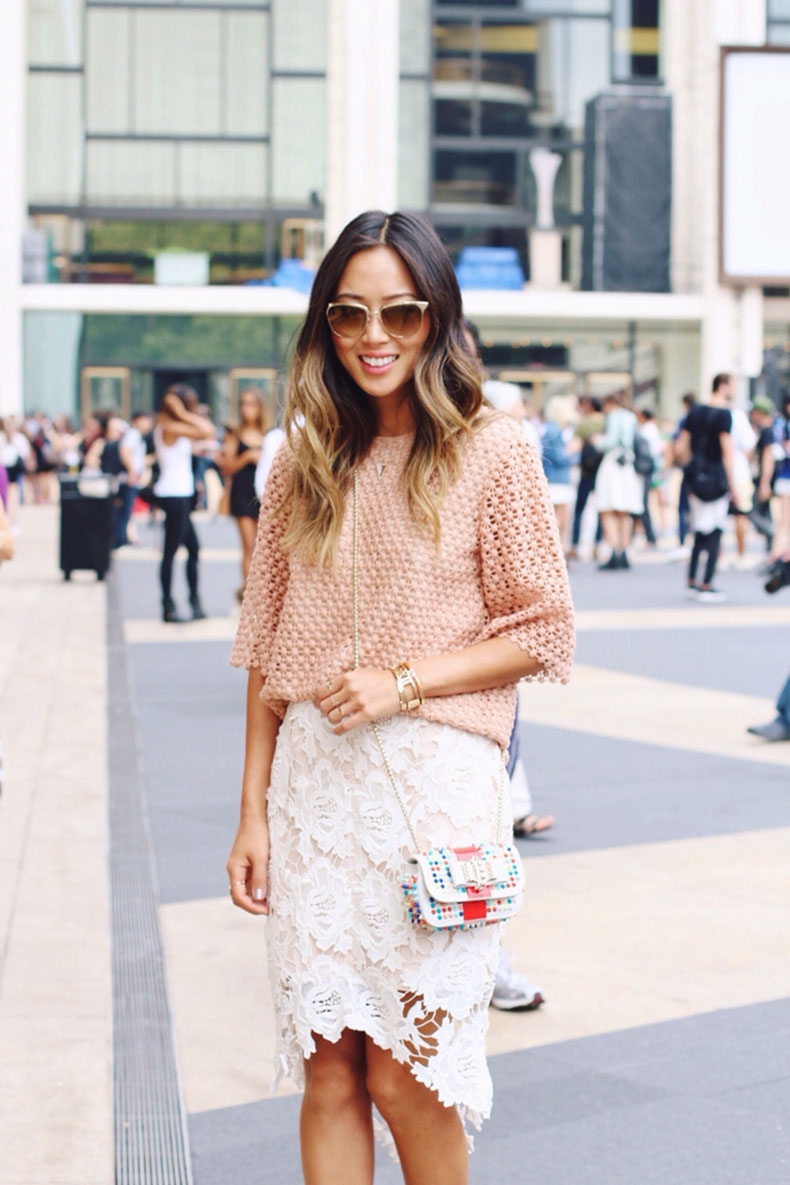song-of-style-gold-sunglasses-chloe-top-lace-skirt-christian-louboutin-sweet-charity-bag