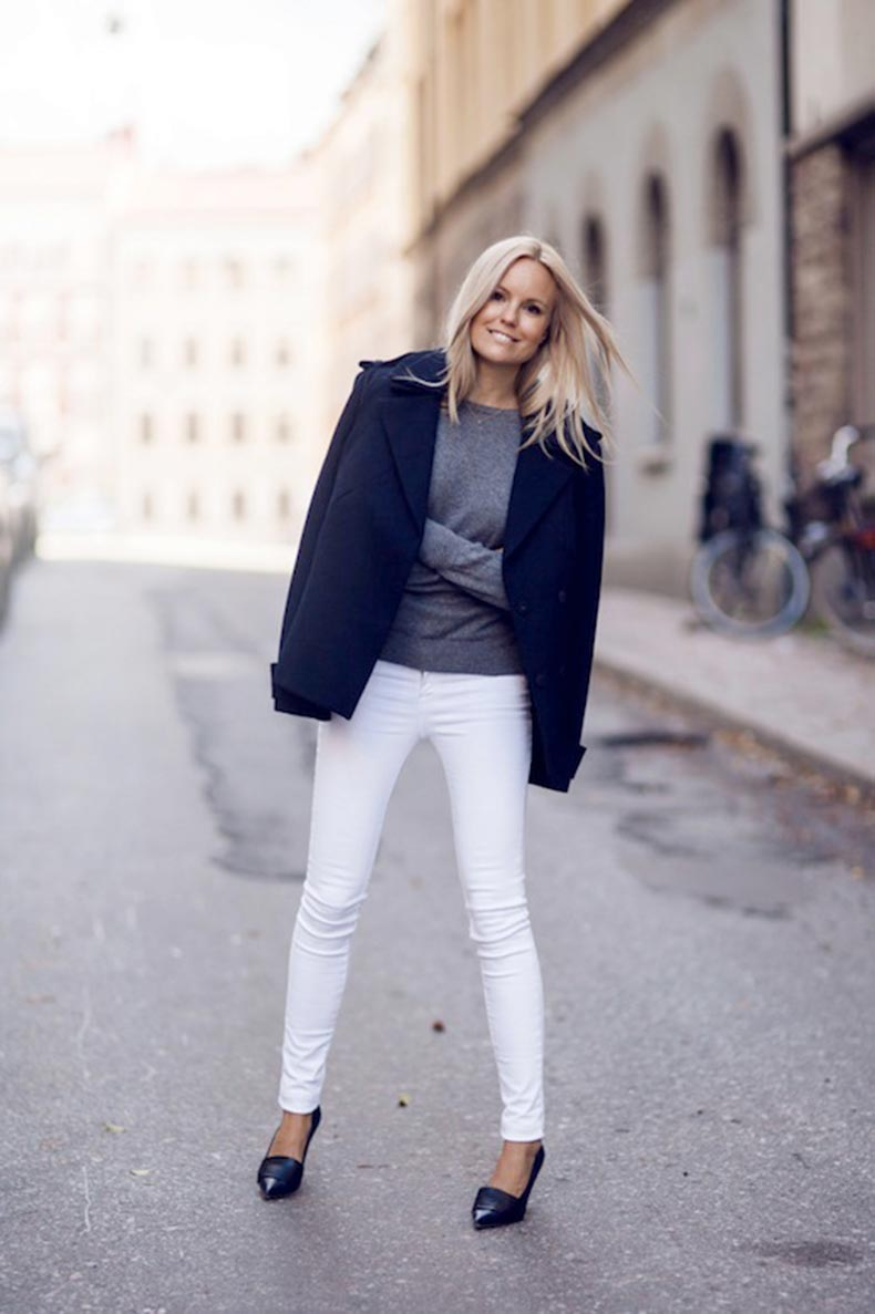13-Le-Fashion-Blog-30-Fresh-Ways-To-Wear-White-Jeans-Navy-Coat-Grey-Sweater-Pumps-Via-Sofis-Snapshot