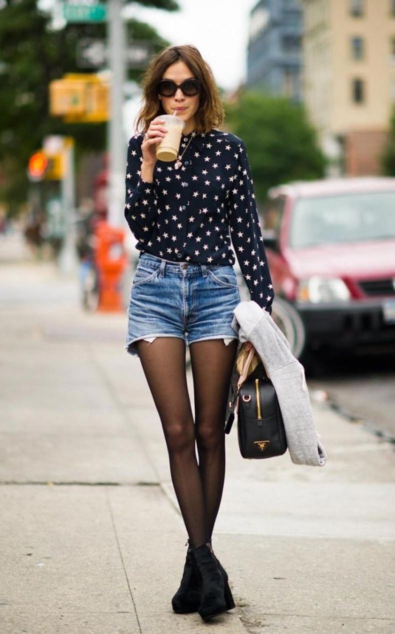 shorts-outfit-by-alexa-chung