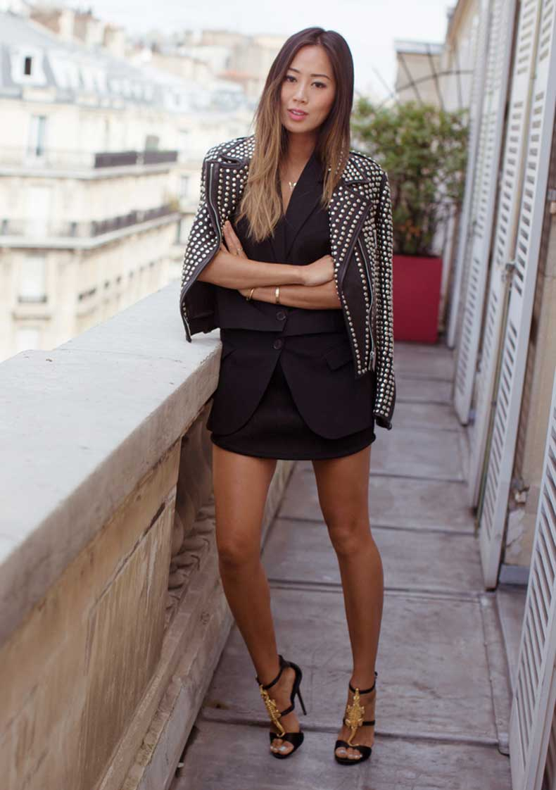 song-of-style-studded-leather-jacket-paris-giuseppe-zanotti-crocodile-heels-2