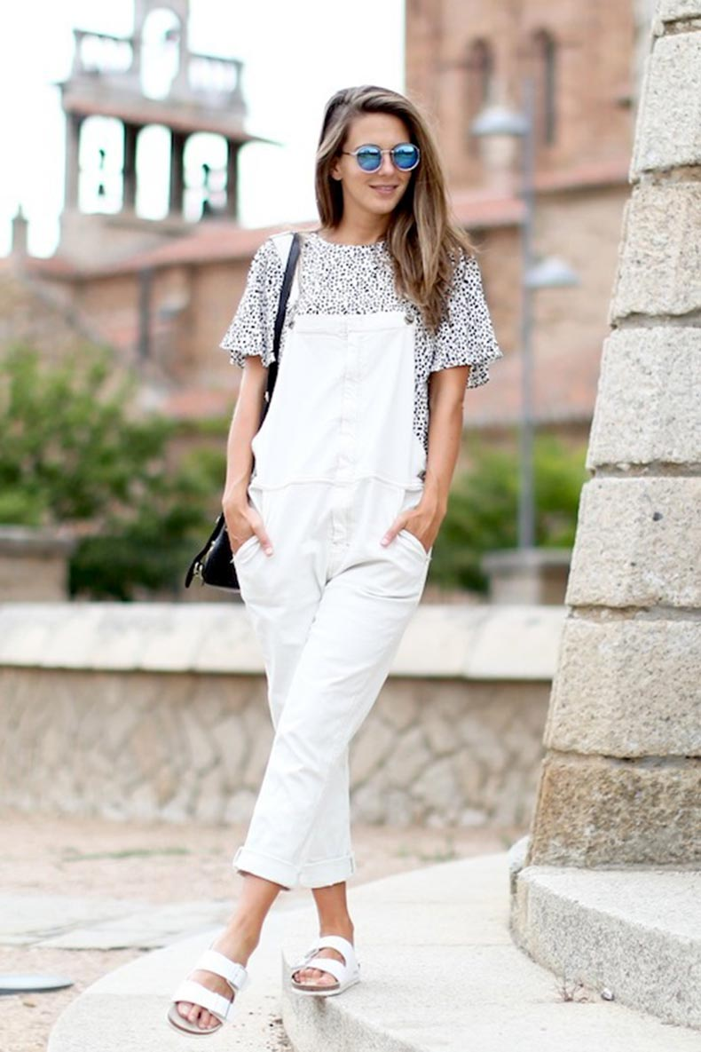 3-Le-Fashion-Blog-17-Ways-To-Wear-White-Overalls-Mirrored-Sunglasses-White-Birkenstock-Sandals-Via-Blogger-Clochet