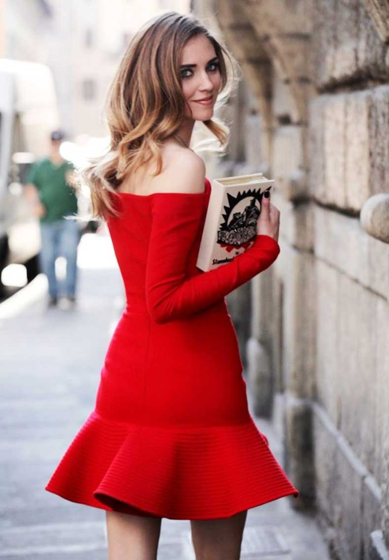 fit-and-flare-peplum-off-the-shoulder-dress