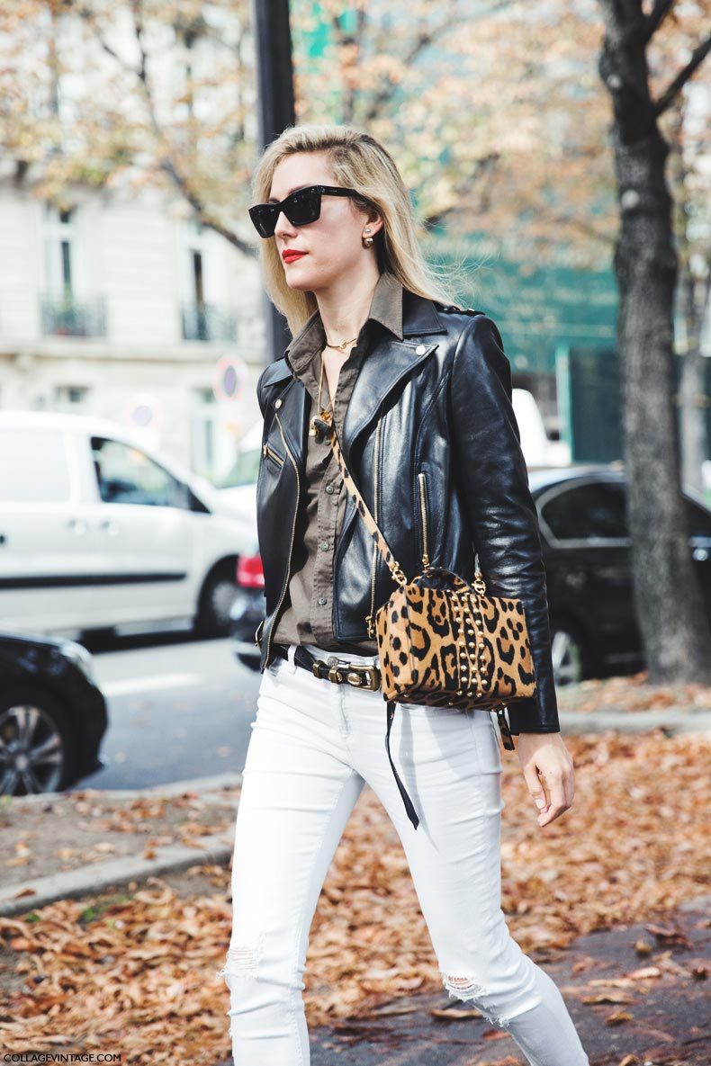 Paris_Fashion_Week_Spring_Summer_15-PFW-Street_Style-Joanna_Hillman-Leopard_Bag-White_Trousers-1