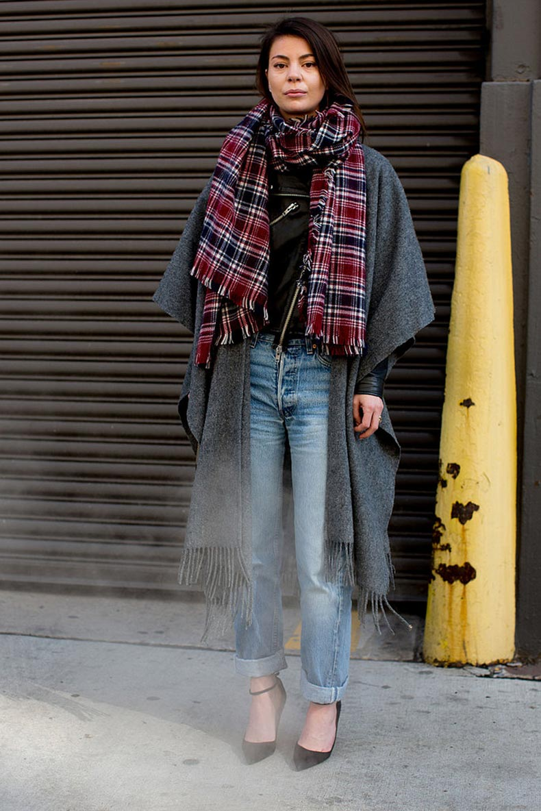effortless-mix-plaid-denim-got-statement-making-finish