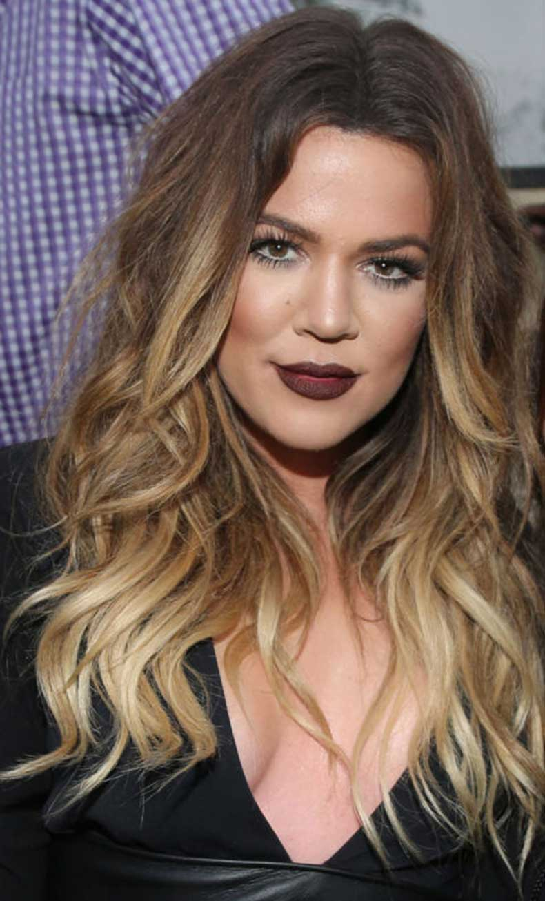 Khloe kardashian ombre hair color 2018