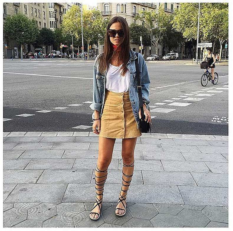 fine button down skirt outfit 8