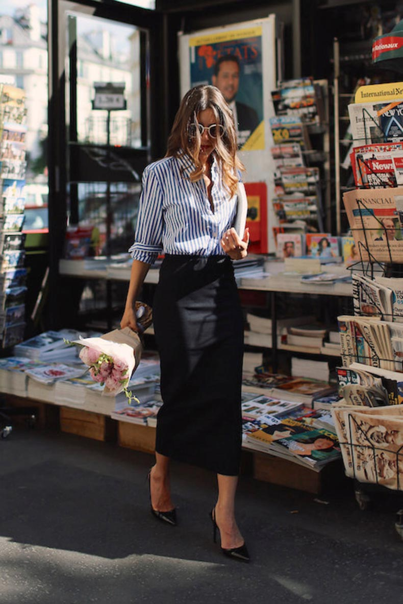 Le-Fashion-Blog-25-Ways-To-Wear-A-Striped-Button-Down-Shirt-Pencil-Skirt-Via-Sarah-Nait