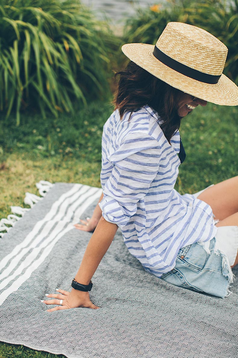 Le-Fashion-Blog-25-Ways-To-Wear-A-Striped-Button-Down-Shirt-Wide-Brim-Hat-Cut-Offs-Via-This-Time-Tomorrow