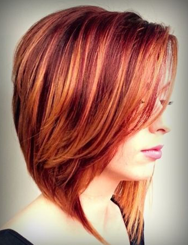 Stunning-Red-Fall-Hair-Color-with-Diffused-Highlights-Short-Hair-Color-Ideas-2015-1