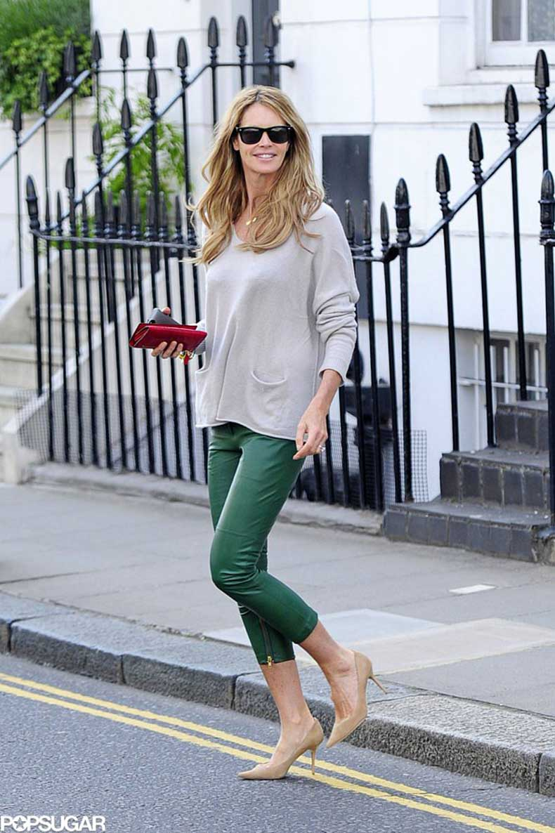 Elle-Macpherson-colored-streets-London-her-green-leather