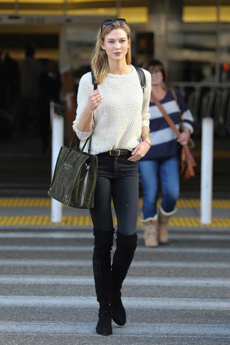 Karlie-Kloss-wore-black-knee-high-boots-her-statement-piece