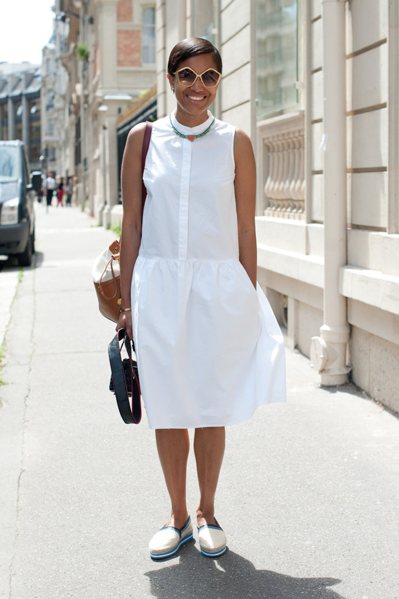 feminine-white-sundress-gets-dose-menswear-inspired-cool-via