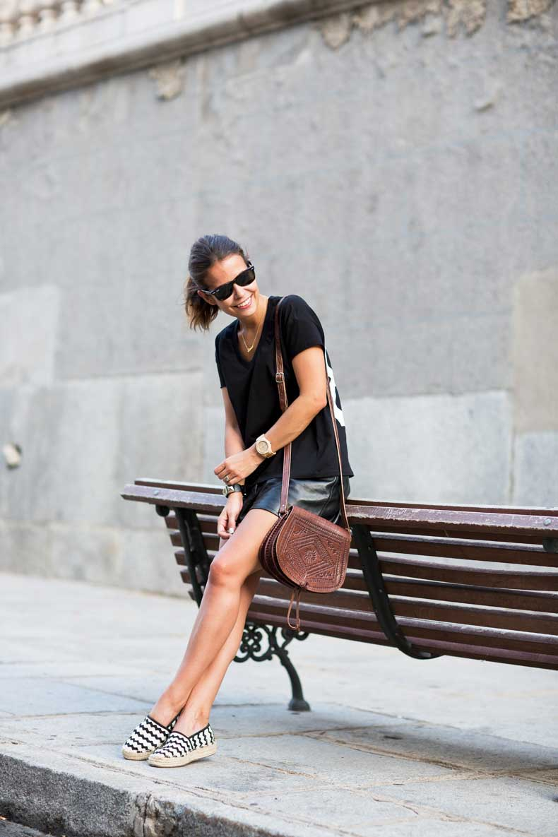 Number_tee-Leather_Shorts-Striped_Espadrilles-Outfit-Street_Style-38