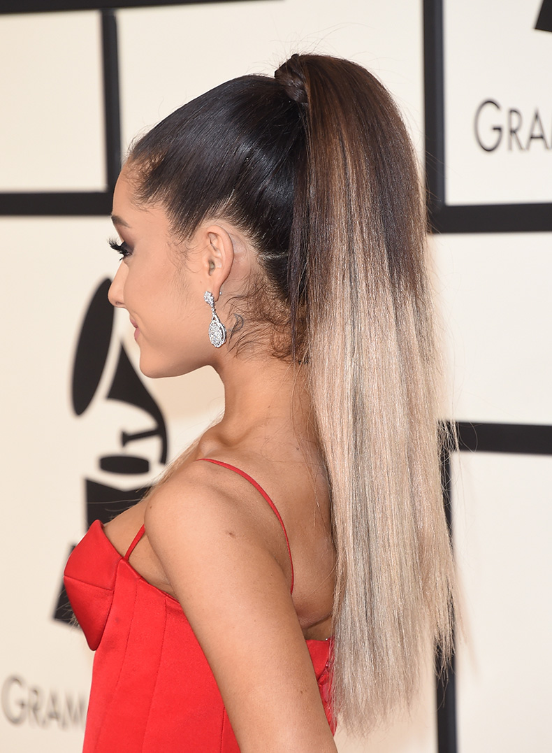 El cabello de ariana grande 2018 long dress