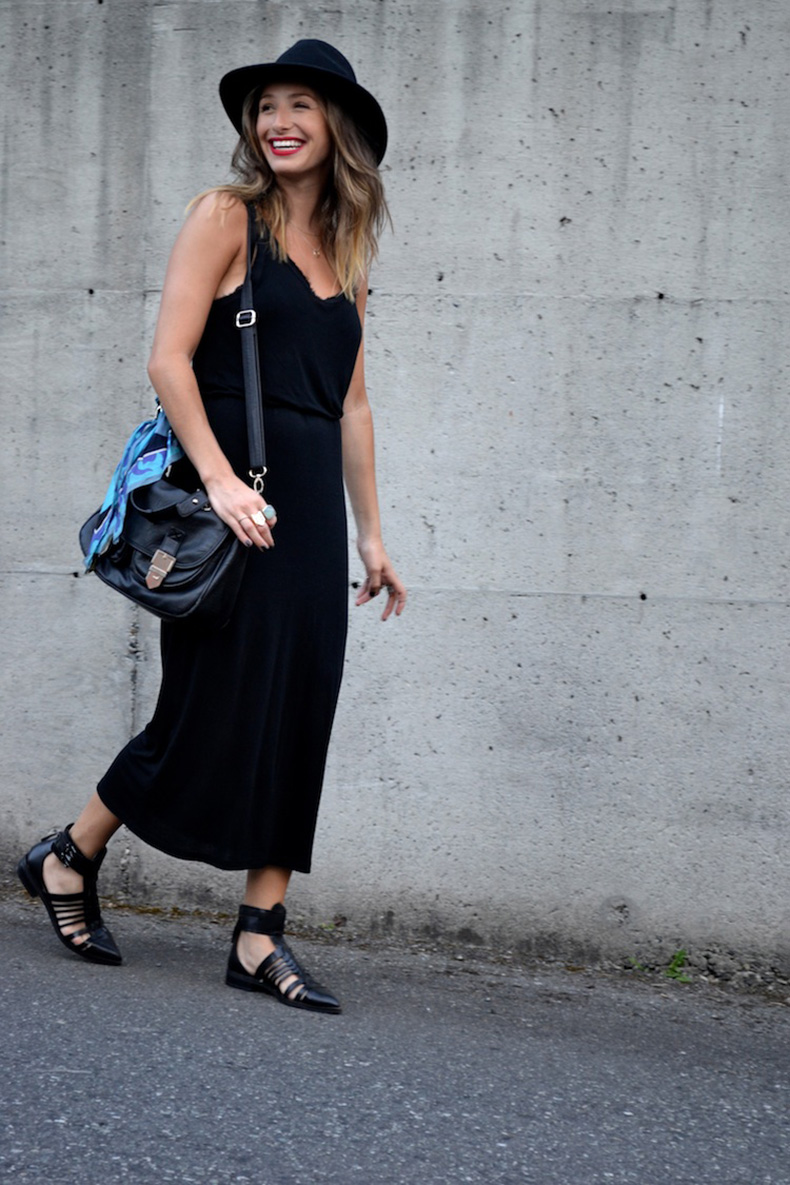 45 Ideas Para Usar Un Maxi Vestido Negro | Cut & Paste – Blog de Moda