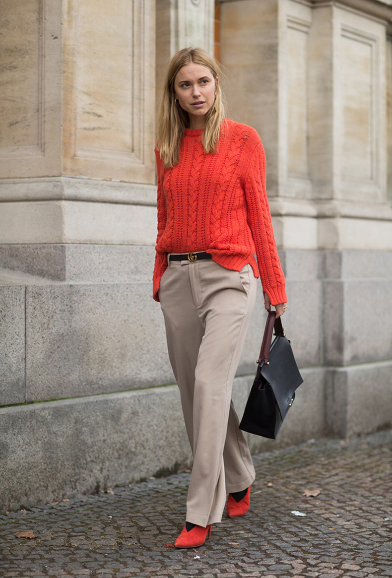 how-to-wear-orange-outfit-pernille-teisbaek