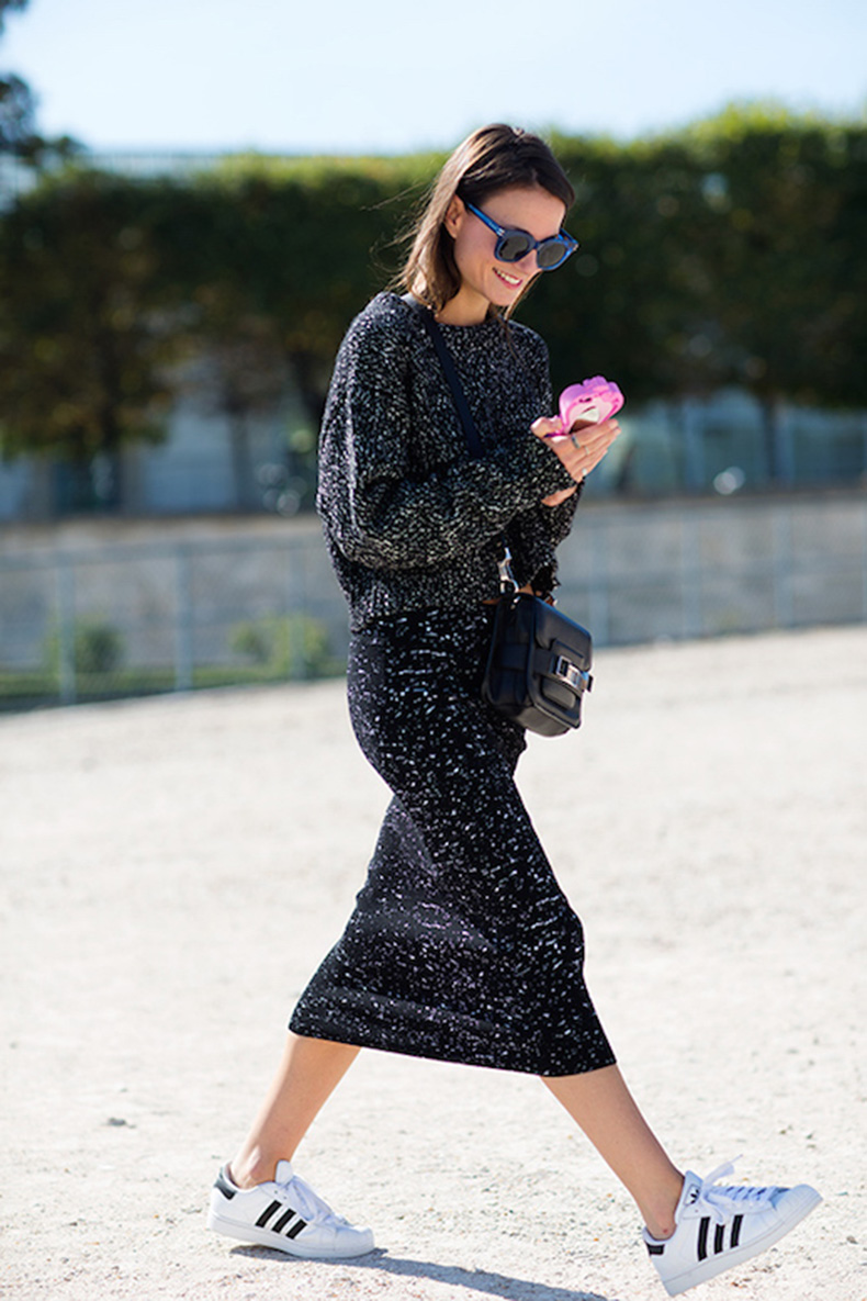 Le-Fashion-Blog-25-Ways-To-Wear-Adidas-Sneakers-Sunglasses-Print-Sweater-Midi-Skirt-Superstar-Street-Style-Via-The-Sartorialist