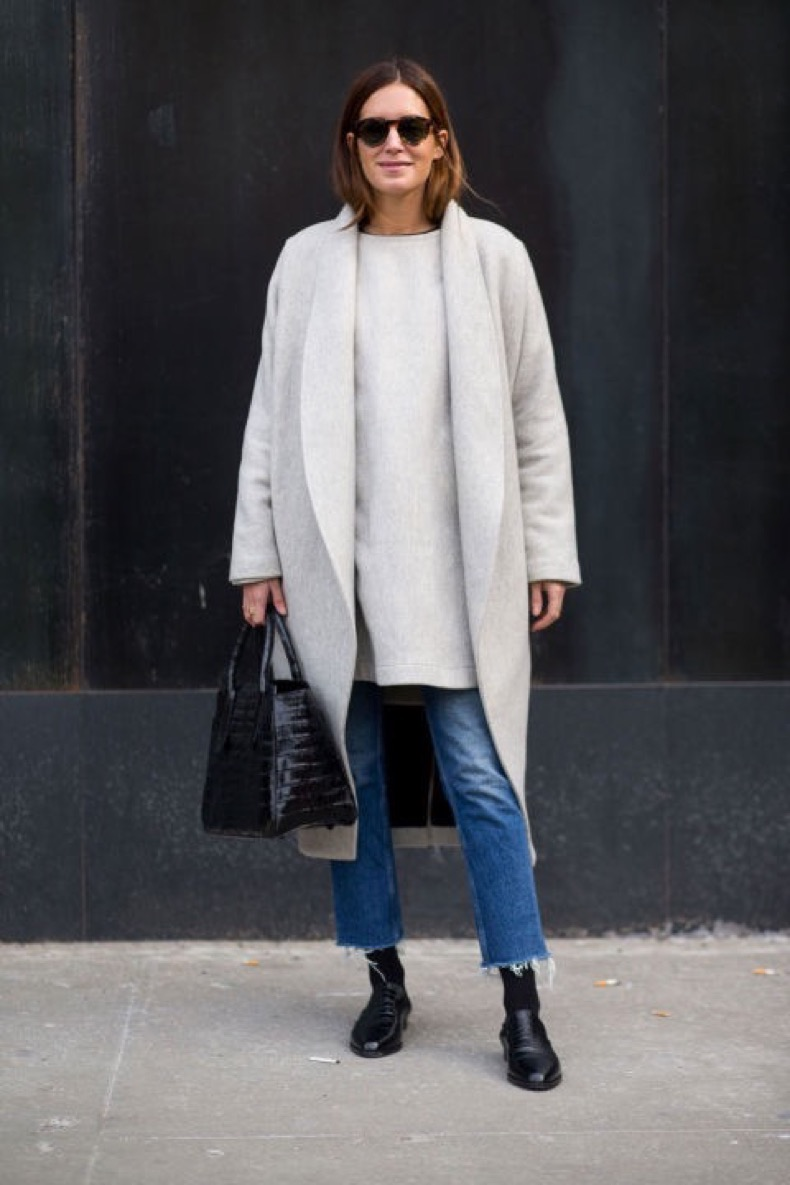 cropped-jeans-frayed-denim-jeans-tunic-sweater-grey-coat-loafers-tights-and-jeans-winter-outfits-what-to-wear-when-its-freezing-nyfw-2016-street-style-hbz