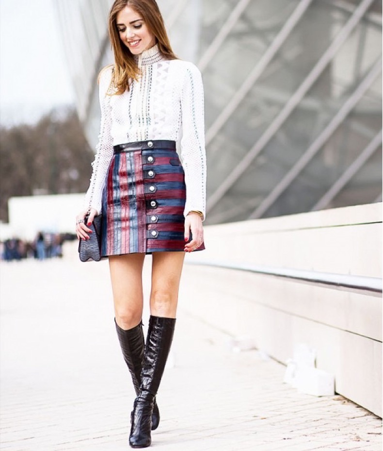 A+Line+Mini+Skirt-Fall-Fashion-2016-Trends-Chiara-Ferragni