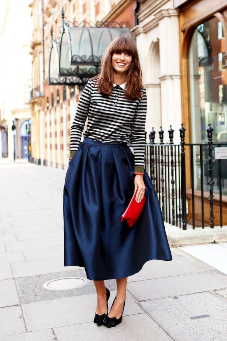 LADY LIKE FULL SKIRT STREET STYLE 1