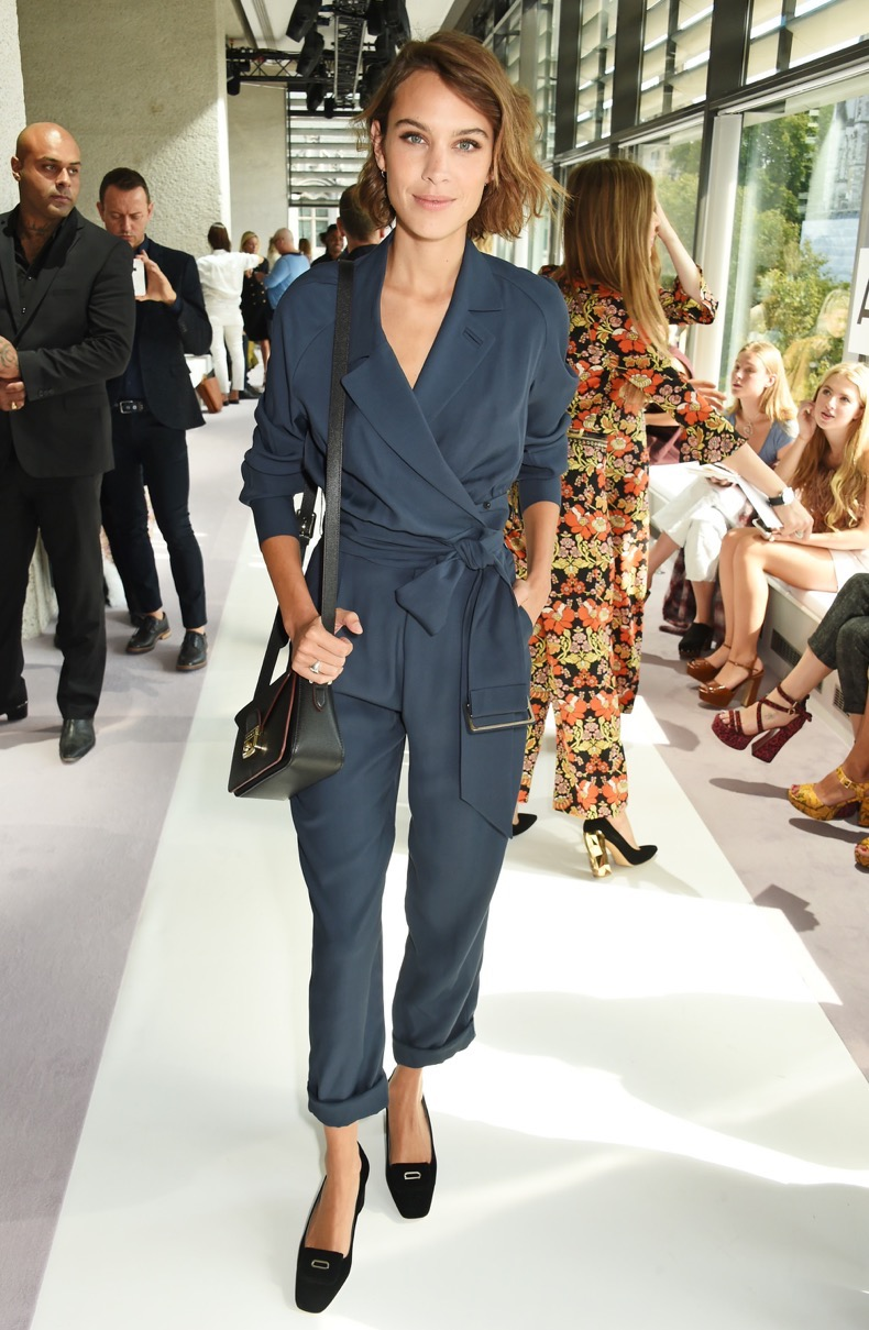 LONDON, ENGLAND - SEPTEMBER 20:  Alexa Chung attends the Topshop Unique show during London Fashion Week SS16 at The Queen Elizabeth II Conference Centre on September 20, 2015 in London, England.  (Photo by David M. Benett/Dave Benett/Getty Images for Topshop)