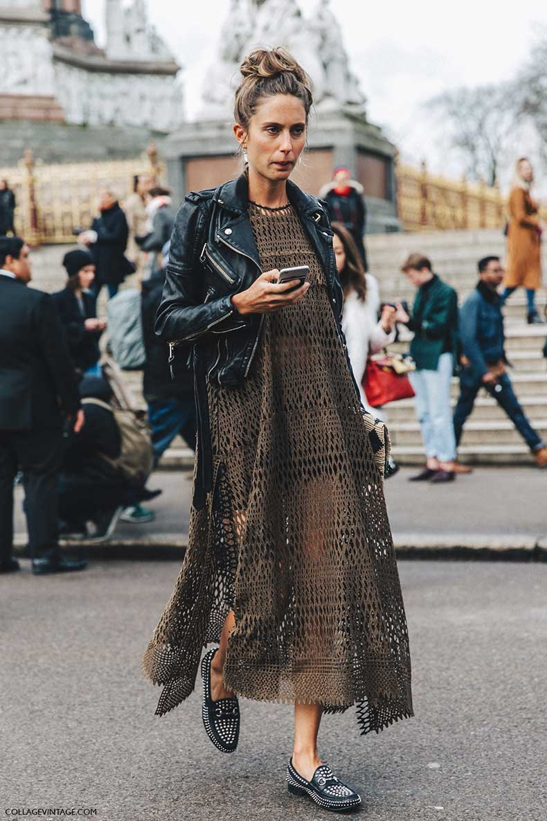 lfw-london_fashion_week_fall_16-street_style-collage_vintage-khaki_dress-biker-studded-loafers-1-1