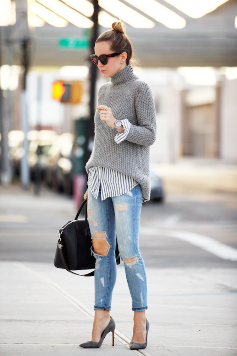 le-fashion-blog-25-ways-to-wear-a-striped-button-down-shirt-under-sweater-ripped-jeans-via-brooklyn-blonde